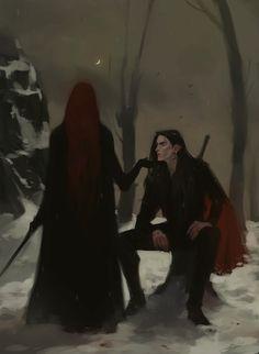Artwork by Jodie Muir/ The vampire love of a vampire Foto Fantasy, Dark Fantasy Art, Fantasy Artwork, Fantasy World, Dark Art, Gothic Artwork, Fantasy Inspiration, Character Inspiration, Character Art