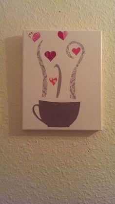 Handmade Canvas Art Coffee Love by StephsLittleShoppe on Etsy, $15.00