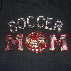 Women's rhinestone Soccer Mom shirt