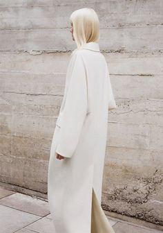Long white Celine coat