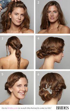 Gorgeous #DIY braided wedding updo | Brides.com