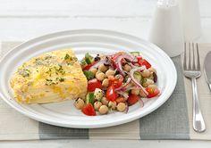 Ham and Corn Frittata Egg Recipes, Pork Recipes, Dinner Recipes, Cooking Recipes, Dinner Side Dishes, Dinner Sides, Frittata Recipes, Weekday Meals, Cheap Meals
