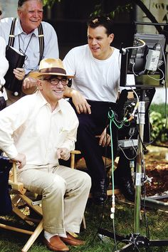Martin Scorsese and Matt Damon on the set of 'The Departed'