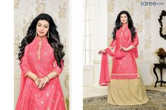 PINK COTTON SUIT WITH EMBROIDERYWORK