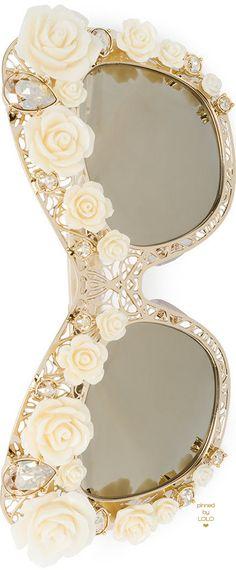 DOLCE & GABBANA Rose lace cat-eye sunglasses