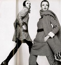 1968 tweed suits from Pierre Cardin and Nina Ricci Vogue Italia