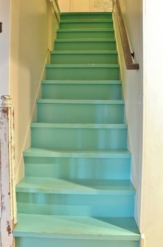 """Farmhouse Staircase by Kimberley Bryan - Great idea for those of us who don't have the talent of a """"rehab addict"""". Wish I did"""