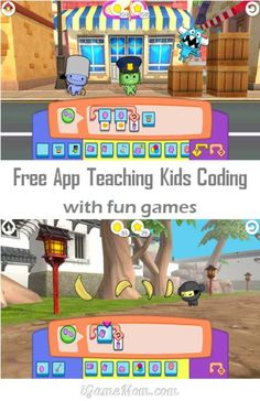 Free app teaching kids coding with fun games - kids as young as preschool age can learn computer coding #kidsApps