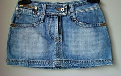Minigonna gonna jeans DENIM BLU nuvola OXYGEN 40 S a fascia jupe skirt hot