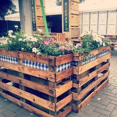 zelf bloembakken maken pallets recyclen