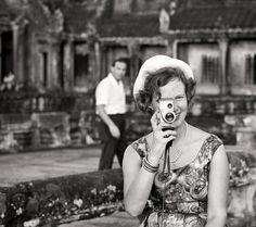 European Monarchies:  Then Princess (now Queen) Margrethe of Denmark filming