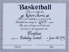 Basketball award certificate to print activity shelter blank greetings and welcome to our free article about certificates of any basketball awards for children basketball is a fun and well known sport game around the yelopaper Gallery
