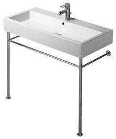 Duravit Vero metalen onderstel voor wastafel 100 cm. chroom 0030671000