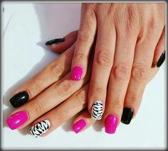 Nero fucsia (glamour pink ) zebrato