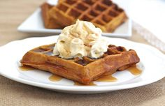 Pumpkin eggnogadds the perfect richness and spice tothese big, crispy on the outside, fluffy on the inside waffles. Top them with a little pumpkin whipped topping and all your pumpkin dreams come true! What's a brunch without waffles?! I recently hosted this fabulous pumpkin palooza brunch with a menu full of pumpkin-inspired yumminess and these …