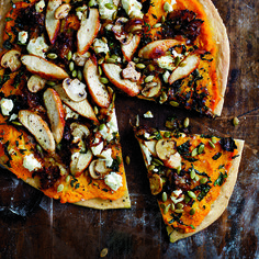 Squash, Chicken and Kale Pizza. Try it.