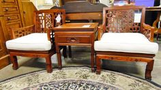 Asian Rosewood Side Table w/Drawer Storage