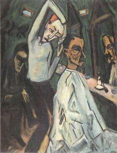 Barber Shop by Erich Heckel Kandinsky, Emil Nolde, Harlem Renaissance, Amedeo Modigliani, Ludwig Meidner, James Ensor, George Grosz, Degenerate Art, August Macke