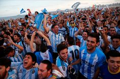 Lionel Messi feared Argentina were about to crash out of the World Cup until he set up Angel Di Maria for an extra time winner in Sao Paulo. Penalty Shoot Out, Argentina Soccer, Clearwater Revival, Emotional Rollercoaster, World Cup Final, Soccer Fans, World Cup 2014, World Music, Lionel Messi