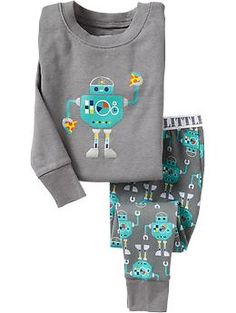 Wyatt: Pizza-Robot PJ Sets for Baby | Old Navy