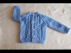 Chambrita / chompa / suéter / saco de 3 a 6 meses paso a paso parte 3 de 3 - YouTube
