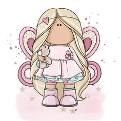 Cute Cartoon, Cartoon Art, Plush Dolls, Doll Toys, Space Theme Preschool, Baby Girl Clipart, Handmade Wedding Gifts, Drawing Anime Clothes, Cute Paintings