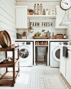 Are you struggling with your small laundry room? These small farmhouse laundry room ideas can be your ultimate inspirations to charm the room. Rustic Laundry Rooms, Farmhouse Laundry Room, Small Laundry Rooms, Laundry Room Design, Laundry Area, Laundry Decor, Laundry Room Cabinets, Laundry Room Organization, Laundry Organizer