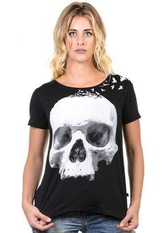 Camiseta Feminina estampa caveira