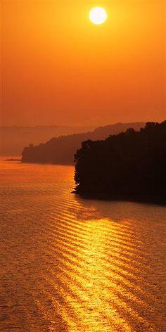 Sunrises & Sunsets Wall Graphics from Walls 360: Sunrise Over Lake Tenkiller