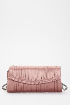 T Tahari Elie Tahari Patricia Clutch in Dusty Rose blush pink