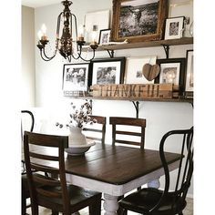 Source @vintageporch Love The Shelves On The Wall. Great To Display Those  Treasured Family Photos.