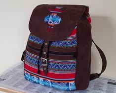 Unique style hand crafted real buffalo leather bags by guntaboutique Backpack Purse, Travel Backpack, Travel Bags, Vintage Leather Backpack, Brown Leather Backpack, Handmade Purses, Leather Bags Handmade, Unique Fashion, Womens Fashion