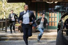 Still of Russell Hornsby, David Giuntoli and Jacqueline Toboni in Grimm (2011)