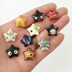 What's your favorite studio Ghibli movie? Character? Which Kawaii star is your fave? These are all prototypes (minus Totoro, haku, and kodama) so I will make multiples of the most popular ones!!