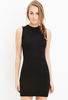 Ribbed Bodycon Dress - Clothing - 2000147169 - Forever 21 EU English