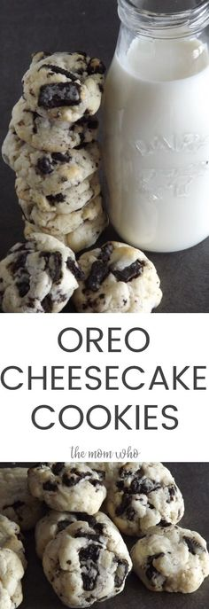 Oreo Cheesecake Cookies - These cookies have a crispy edge and a chewy center, but are smooth and creamy just like cheesecake. Click to get the recipe or pin to save for later.