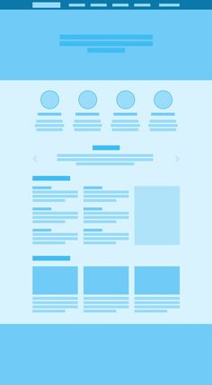 simple wireframe for a landing page