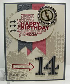 A Handmade Boys Birthday Card And Photopolymer Stamps Cards For Teen