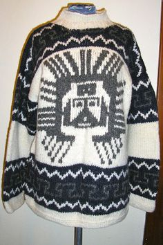 80s, Cowichan, sweater, pull over, Canada, knit, large from ChloeandNatalieVtg, $195.00