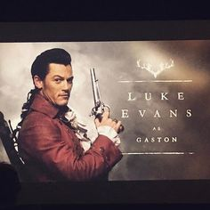 Beauty and the Beast 2017 Gaston. Luke really knew what he was doing. Wow! I've never seen a villain played with so much evil! Gotta hand it to this guy. *applause*