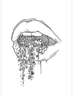 aesthetic drawing 'all the pretty things i tried to say to you' Poster by Lexie Pitzen Cool Art Drawings, Pencil Art Drawings, Art Drawings Sketches, Easy Drawings, Drawing Lips, Pretty Drawings, Tattoo Drawings, Random Drawings, Cute Drawings Tumblr