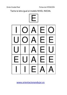 tacha las vocales mayusculas igual al modelo  fichas-2 Alphabet Worksheets, Preschool Worksheets, Letter E, Montessori Materials, Head Start, Nye, Homeschool, Coding, Teaching