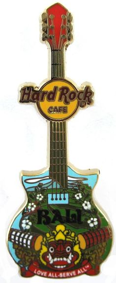 Hard Rock Cafe Bali City Tee Guitar Pin 2014 | eBay