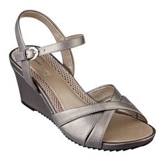 "Our Laralee comfortable wedge sandals for women are the perfect update to the Anti-Gravity sandal collection. They're the ideal, comfortable dress shoes for day-into-evening. Laralee is lightweight with a breathable mesh footbed. It features an adjustable side closure for a secure, comfortable fit. Our Laralee wedge sandals are available in medium widths and wide widths. 3"" high wedge heels."
