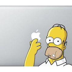 Macbook-Aufkleber (Homer eating The Simpsons, 38 cm), für Apple Laptop - One Gadget