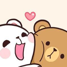 Cute Cartoon Images, Cute Couple Cartoon, Cute Love Cartoons, Cute Cartoon Wallpapers, Cute Bear Drawings, Cute Kawaii Drawings, Cute Love Gif, Cute Love Pictures, Calin Gif