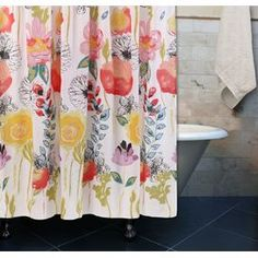 Watercolor Dream Polyester Shower Curtain