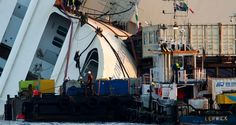 The righting of the Costa Concordia