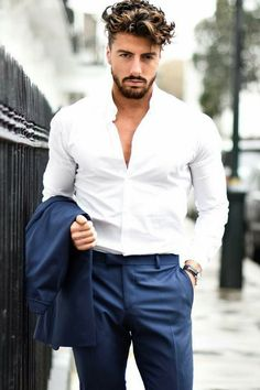 Navy & White Outfit Inspiration For Men #mens #fashion