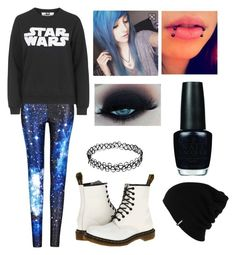 """""""In a Galaxy Far Far Away... - Emo Outfit"""" by mrosep on Polyvore featuring Topshop, Dr. Martens, OPI and Patagonia"""